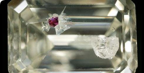 crystal garnet inclusion